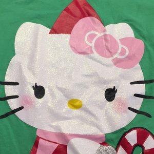 Hello Kitty Shirts & Tops - Hello kitty ugly Christmas tee candy cane 14/16